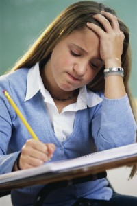Frustrated Student Writing