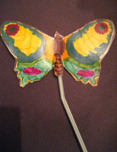 My granddaughter created this bright and whimsical butterfly.