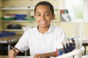 An 8-year old boy discovers how drawing, writing, and moving to learn can help him read more easily.