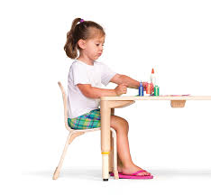 A child who is developmentally ready for tasks involving hand-eye coordination will be able to sit with ease and stability.