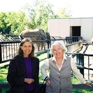 Mother and me when she was 80, in front of the elephant exhibit at the Kansas City Zoo.