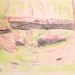 Daniel's Natural Bridge, drawn after visiting the bridge, in Clinton, AK.