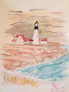 """Lighthouse Study,"" by Virgil Anderson, offers an example of negative space"