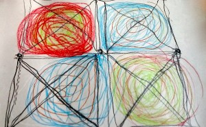 """Ritva drew this while playing the Double Doodle """"Nines"""" game for the first time."""