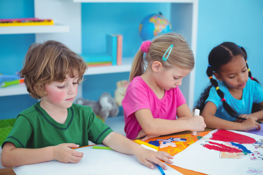 "Children can learn to ""think on paper"" by illustrating and talking about their experiences, and by reading their own made-up stories that a grownup has written down for them, or that they write down for themselves."