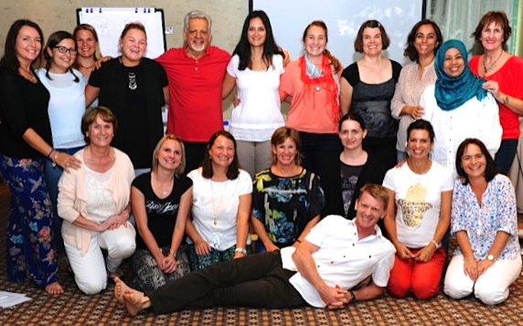 Course photo for Dennison Whole-Brain Learning; I'm in the back row center; Anna is far right.