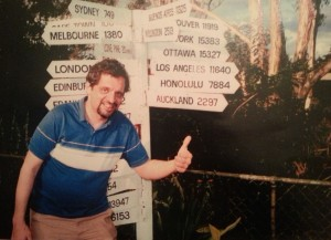 Gail took this photo of me in Brisbane on our first trip to Australia and New Zealand.