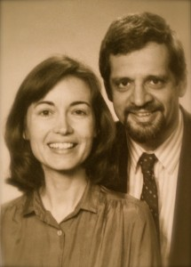 Gail and I in 1986, around the time we published our little orange book. This is a rare photo from that time of me without glasses.