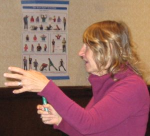 Carla Hannaford, Ph.D., teaching the Physiological Basis of Learning